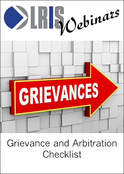 Grievance and Arbitration Checklist