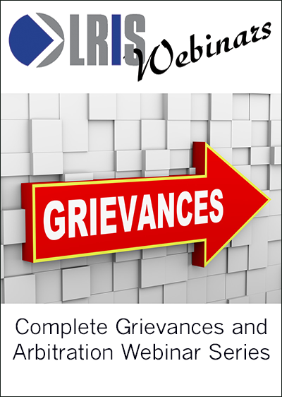Grievances and Arbitration Webinar Series