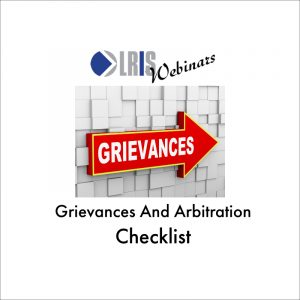 Grievances and Arbitration Webinar